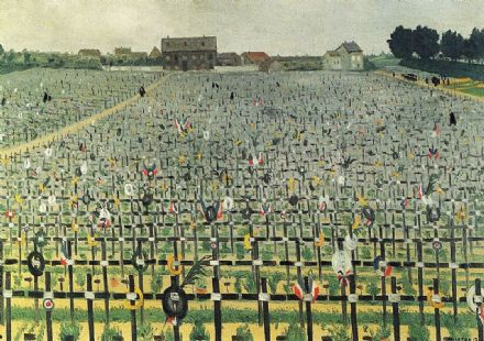 Vallotton, Felix: The Military Cemetery at Chalons. Fine Art Print/Poster. Sizes: A4/A3/A2/A1 (00140)